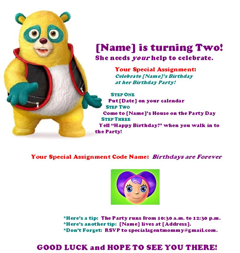 Birthdays Are Forever: Free Special Agent Oso Birthday Party ...